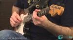 Gra palcami na gitarze elektrycznej
